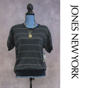 NEW Jones New York Short Sleeve Sweater M